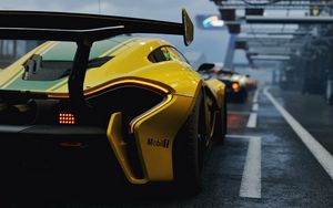 Preview wallpaper mclaren p1 gtr, mclaren p1, mclaren, sports car, rear view