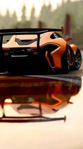 Preview wallpaper mclaren p1, mclaren, sports car, race, rear view
