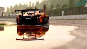 Preview wallpaper mclaren p1, mclaren, sports car, race, rear view