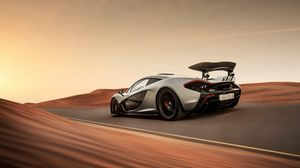 Preview wallpaper mclaren, p1, supercar, speed, desert