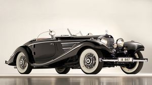 Preview wallpaper mercedes, 1936, 540k, special roadster, classic, car, black