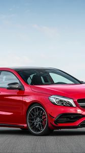 Preview wallpaper mercedes, amg, a-class, w176, red, side view
