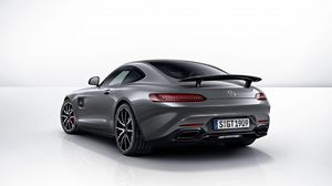 Preview wallpaper mercedes, amg, gt, 2014, gray, rear view, edition 1