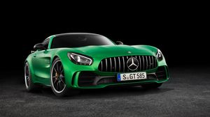 Preview wallpaper mercedes-benz, amg, gt3, c190, front view