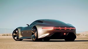 Preview wallpaper mercedes-benz, amg vision, gran turismo, silver stunner