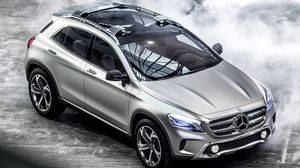 Preview wallpaper mercedes-benz, glk, lights, crossover, concept, silver