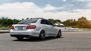 Preview wallpaper mercedes benz, mercedes, e-class, e63, amg, vossen