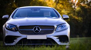 Preview wallpaper mercedes-benz, mercedes, silver, front view, car, modern