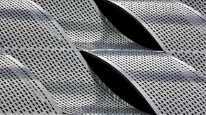 Preview wallpaper metal, plates, lattice, wavy, texture