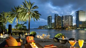 Preview Wallpaper Miami Florida Usa City Ocean Bay Coffee