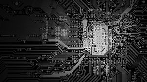 Preview wallpaper microcircuit, circuit, bw