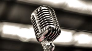 Preview wallpaper microphone, silver, blur