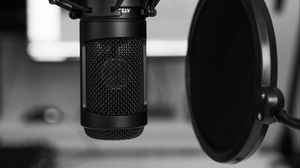 Preview wallpaper microphone, sound recording, bw