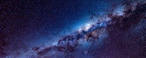 Preview wallpaper milky way, starry sky, stars, space, lights, shine