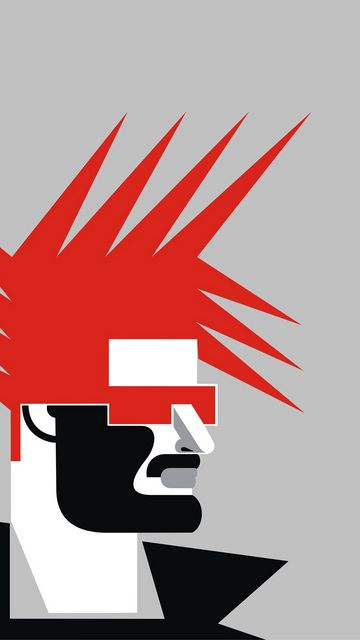 360x640 Wallpaper minimalism, art, mohawk, profile