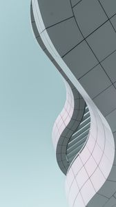 Preview wallpaper minimalism, building, bottom view, modern