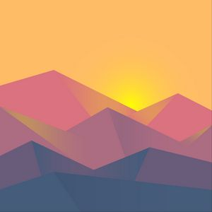 Preview wallpaper minimalism, geometric, landscape