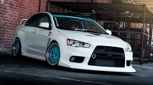 Preview wallpaper mitsubishi lancer, evo x, tune