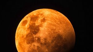 Preview wallpaper moon, full moon, red moon, space, satellite