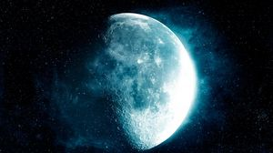 Preview wallpaper moon, stars, space, satellite