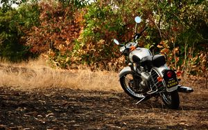 Preview wallpaper motorcycle, autumn, vehicle