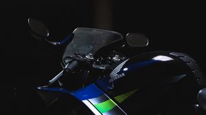 Preview wallpaper motorcycle, speedometer, steering wheel, motor