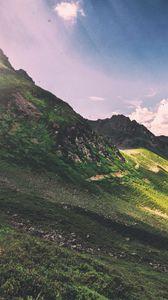 Preview wallpaper mountain, panorama, cloud