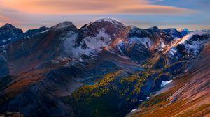 Preview wallpaper mountain, peaks, sky, beautiful scenery