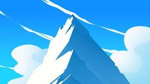 Preview wallpaper mountains, peak, art, vector, landscape