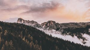 Preview wallpaper mountains, peak, sky, clouds, badia, south tyrol, italy