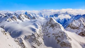 Preview wallpaper mountains, winter, peaks, snow-covered