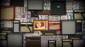 Preview wallpaper music, retro, vinyl, players, portrait