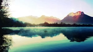 Preview wallpaper nature, light, lake