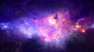 Preview wallpaper nebula, galaxy, light, glow, space
