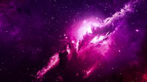 Preview wallpaper nebula, sparkles, light, cloud, purple
