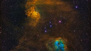Preview wallpaper nebula, stars, cloud, space, colorful