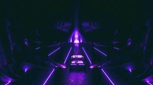 Preview wallpaper neon, art, car, silhouette, dark