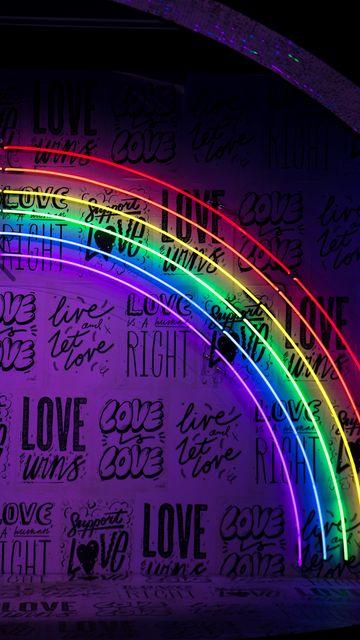 360x640 Wallpaper neon, lettering, rainbow, wall, lights