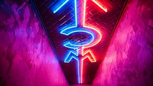 Preview wallpaper neon, lighting, direction, ceiling