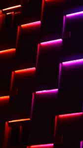 Preview wallpaper neon, lights, dark, forms