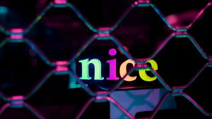 Preview wallpaper neon, nice, text, word, glow, multicolored