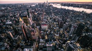 Preview Wallpaper New York Usa City Top View