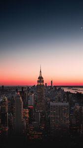 Preview wallpaper night city, skyscraper, skyline, night, new york, usa