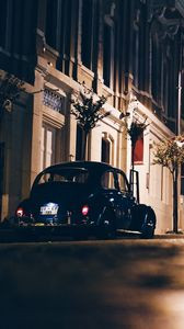 Preview wallpaper night city, street, car