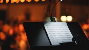Preview wallpaper notes, music, light, glare, bokeh