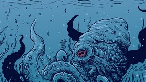 Preview wallpaper octopus, underwater world, art, tentacles