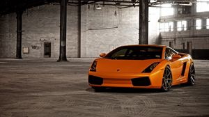 Preview wallpaper orange, stylish, cars, lamborghini