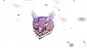 Preview wallpaper owl, art, face, feathers