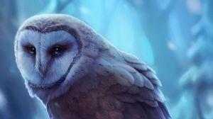 Preview wallpaper owl, bird, art, glance, predator