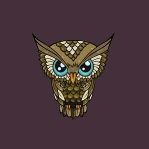Preview wallpaper owl, minimalism, art